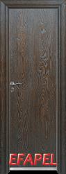 Алуминиева врата Efapel цвят Палисандър