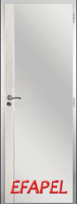 Алуминиева врата Efapel с лайсна Бяла мура