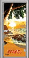 Стъклена интериорна врата Print G 13 14 Beach Sunset L
